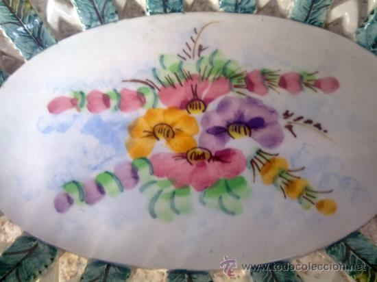 Antigüedades: antiguo frutero o centro de mesa de manises - Foto 4 - 34378383
