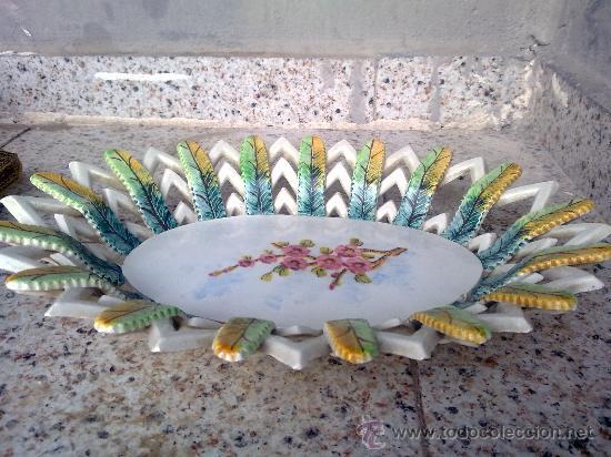 ANTIGUO FRUTERO O CENTRO DE MESA DE MANISES (Antigüedades - Porcelanas y Cerámicas - Manises)