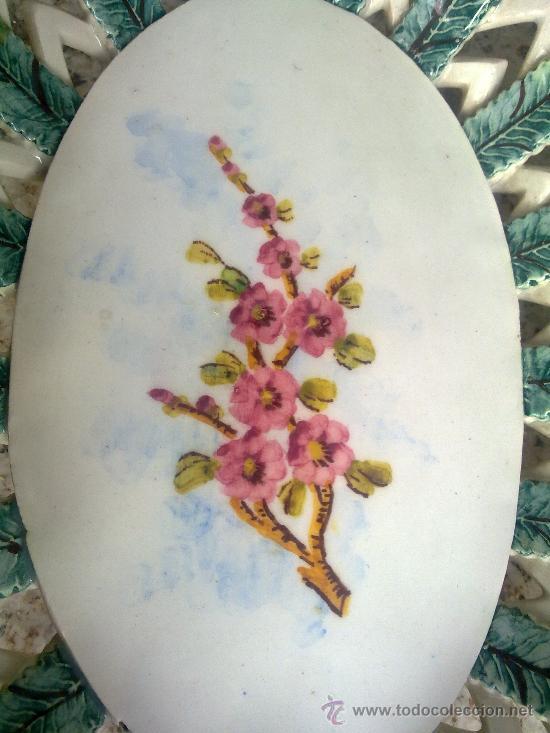 Antigüedades: antiguo frutero o centro de mesa de manises - Foto 4 - 34378448