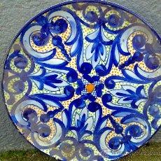 Antigüedades: ANTIGUO PLATO DE CERAMICA PINTADO A MANO. Lote 34392335