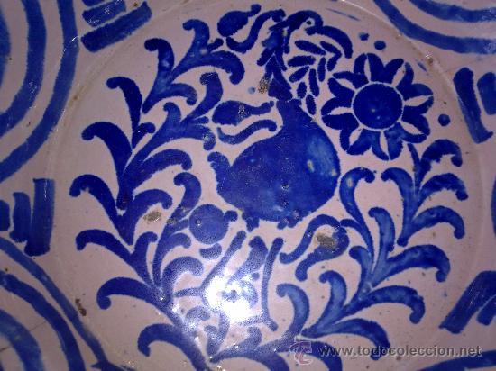 Antigüedades: antigua fuente de fajalauza, pintada a mano - Foto 3 - 34402925