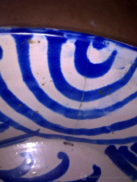 Antigüedades: antigua fuente de fajalauza, pintada a mano - Foto 6 - 34402925