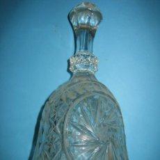Antigüedades: ANTIGUA CAMPANILLA DE CRISTAL CON SU BADAJO 19 CM DE ALTURA. Lote 34404575