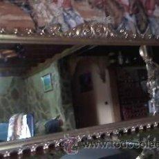 Antigüedades: MAGNIFICO ESPEJO ESTILO ISABELINO MADERA POLICROMADA EN PAN DE ORO.SIGLO XIX. Lote 40393632