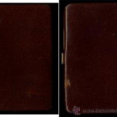 Antigüedades: - VINTAGE ANTIGUO TARJETERO EN PIEL CON ADORNO DE PLATA MEDIDAS: 13/9/1 CM.. Lote 34412626