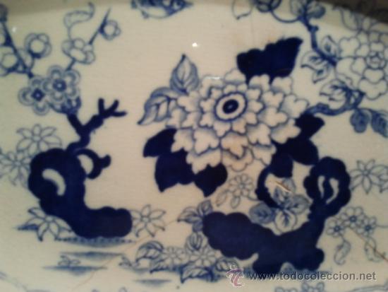 """Antigüedades: Bandeja ovalada. Marcas al dorso """"Oriental Japón"""". Pequeños desperfectos. - Foto 2 - 34413095"""