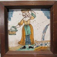 Antigüedades: AZULEJO CATALAN DE ARTES Y OFICIOS. SIGLO XIX. SIN RESTAURACIONES. Lote 34422457