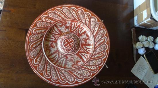 REFLEJO METALICO XIX MANISES (Antigüedades - Porcelanas y Cerámicas - Manises)