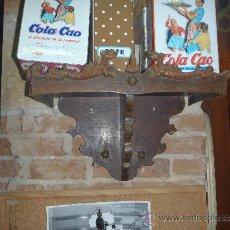 Antigüedades: ANTIGUA ESTANTERIA PEANA MENSULA DE MADERA PARA SANTO.. Lote 34438632