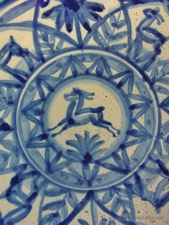 Antigüedades: PLATO EN CERÁMICA DECORADA. CATALUÑA. SIGLO XX. ESTILO NOUCENTISTA. BUENA CONSERVACIÓN. - Foto 2 - 34451656