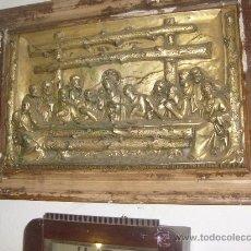 Antigüedades: ANTIGUA SANTA CENA COBRE PLATEADO. Lote 34471673