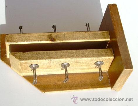 Antigüedades: ANTIGUA PERCHA, COLGADOR, DE MADERA - Foto 2 - 34474400