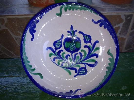 PRECIOSA FUENTE O LEBRILLO DE FAJALAUZA (Antigüedades - Porcelanas y Cerámicas - Fajalauza)