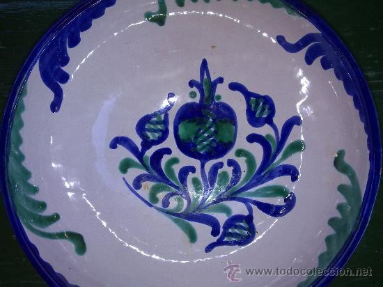 Antigüedades: preciosa fuente o lebrillo de fajalauza - Foto 2 - 34488160