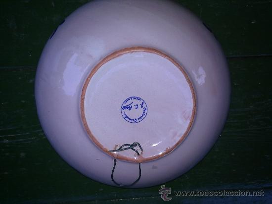 Antigüedades: preciosa fuente o lebrillo de fajalauza - Foto 3 - 34488160