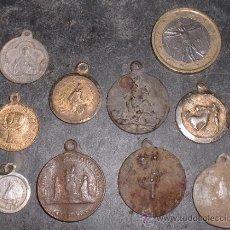 Antigüedades: LOTE DE MEDALLAS RELIGIOSAS ANTIGUAS. Lote 91933784