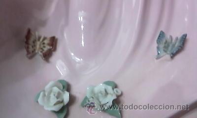 Antigüedades: Figura de joven con flores y mariposas de la casa Davila .Edición limitada 5000 piezas.Gran tamaño - Foto 5 - 34517277