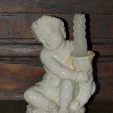 Antigüedades: CANDELERO LOZA ESMALTADA. MANISES. C 1920.. Lote 34531278