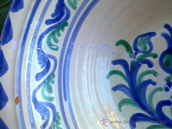 Antigüedades: precioso lebrillo de fajalauza - Foto 3 - 34534483