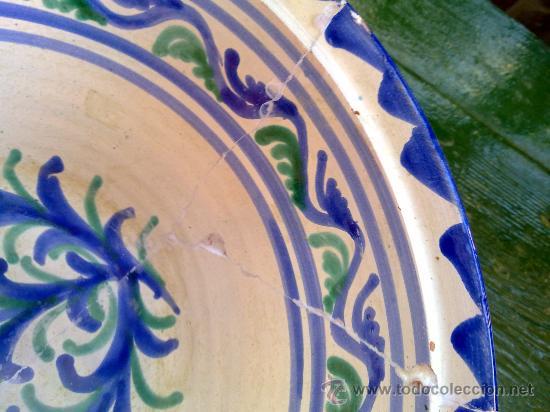 Antigüedades: precioso lebrillo de fajalauza - Foto 4 - 34534483