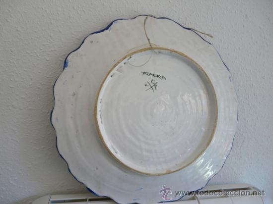 Antigüedades: ANTIGUO GRAN FUENTE CERAMICA DE TALAVERA - ESCUDO CON EL NOMBRE MARTINEZ-PEREZ - Foto 7 - 34543098