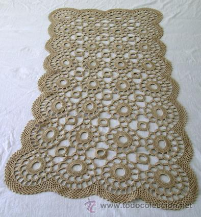 centro de mesa tapete ganchillo crochet recta comprar