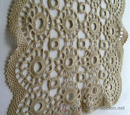 Centro de mesa tapete ganchillo crochet recta comprar for Tapetes de ganchillo