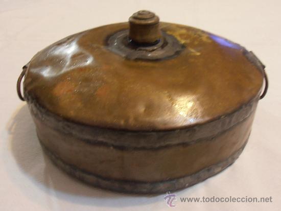 CALIENTACAMAS DE COBRE (Antigüedades - Técnicas - Rústicas - Utensilios del Hogar)