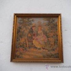 Antigüedades: PEQUEÑO CUADRO DE TAPIZ. Lote 34551720