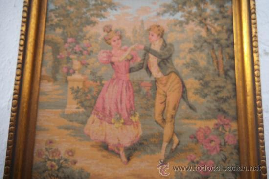 Antigüedades: pequeño cuadro de tapiz - Foto 2 - 34551721