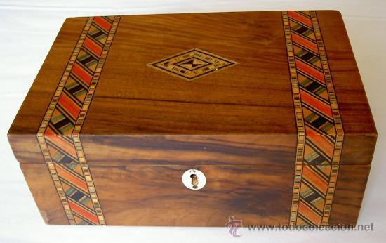 caja victoriana nogal tunbridge ware - Comprar Muebles Auxiliares ...