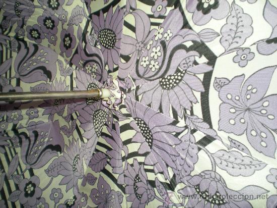 Antigüedades: antigua sombrilla de mujer años 30 40 lila forrada por dentro - Foto 3 - 34565554