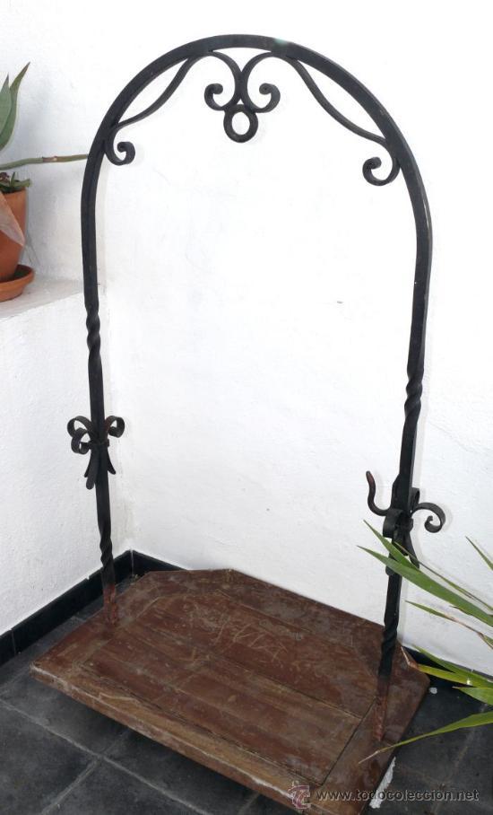Precioso arco brocal de pozo antiguo forja muy comprar - Adornos de pared de forja ...