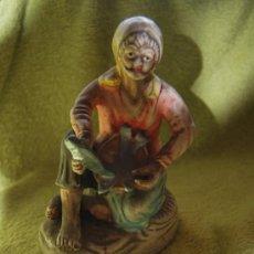 Antigüedades: FIGURA PESCADOR - ESCAYOLA - VARIAS FOTOS. Lote 34584520