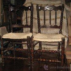 Antigüedades: ANTIGUAS SILLAS ANDALUZAS. Lote 38035685