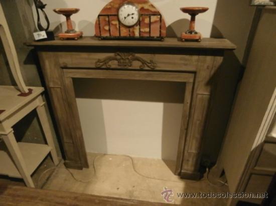 Frente de chimenea de madera en decape comprar muebles - Madera para chimenea ...
