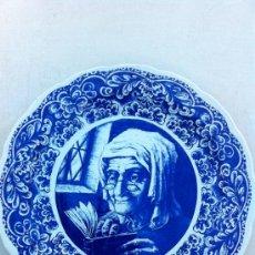 Antigüedades: PLATO MUY GRANDE PARA DECORACION SELLADO DELFT. Lote 34635083