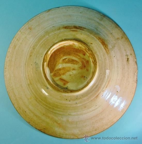 Antigüedades: PLATO EN CERÁMICA DECORADA. TERUEL, ARAGÓN. SIGLO XVIII. - Foto 6 - 34645270