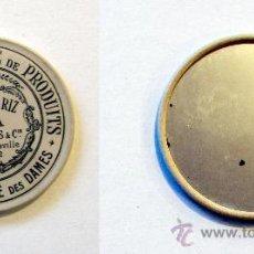 Antigüedades: ESPEJO PUBLICITARIO POUDRE DE RIZ DE JAVA. Lote 34640401