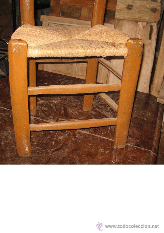 Antigüedades: Silla de madera y enea - Foto 3 - 34643375