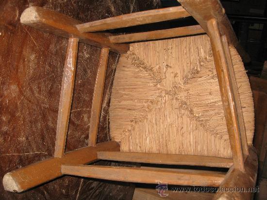 Antigüedades: Silla de madera y enea - Foto 5 - 34643375
