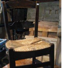 Antigüedades: SILLA DE MADERA Y ENEA. Lote 34643521