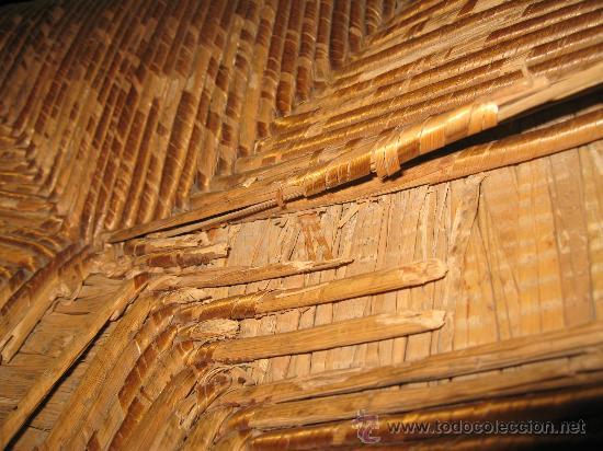 Antigüedades: Silla de Madera y Enea - Foto 5 - 34643521