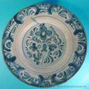 Antigüedades: PLATO EN CERÁMICA DECORADA. TERUEL, ARAGÓN. SIGLO XVIII.. Lote 34645270