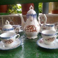 Antigüedades: ANTIGUO JUEGO DE CAFE JAPONES, MARCA EIHO. PRECIOSO. Lote 34645403