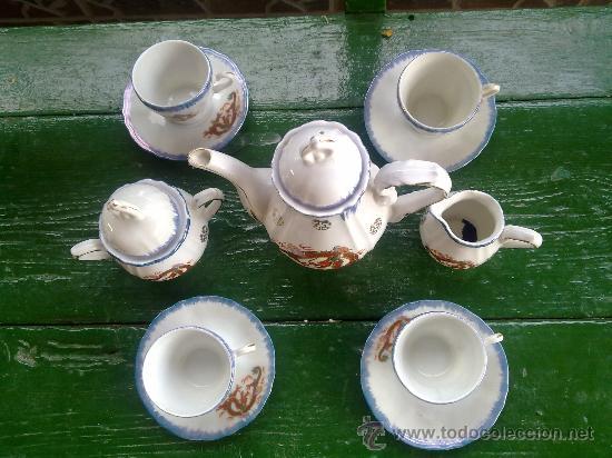Antigüedades: antiguo juego de cafe japones, marca eiho. precioso - Foto 2 - 34645403
