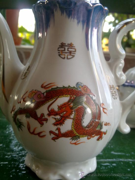 Antigüedades: antiguo juego de cafe japones, marca eiho. precioso - Foto 8 - 34645403