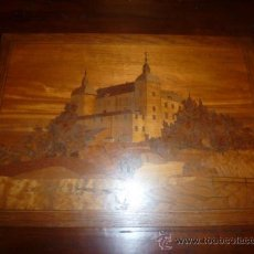 Antigüedades: PANEL DE MARQUETERIA PARA MUEBLE. Lote 34645736