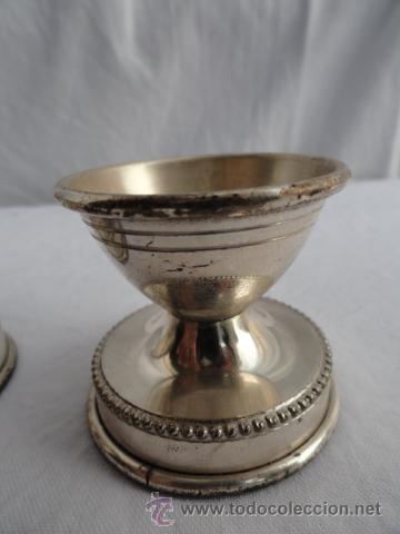 Antigüedades: LOTE DE 2 HUEVERAS DE ALPAHACA. - Foto 4 - 34651094