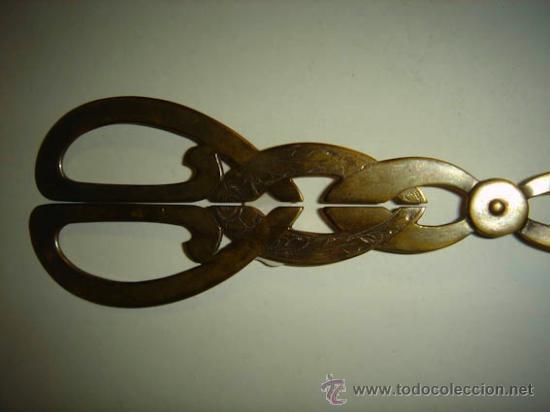 Antigüedades: Pinzas para servir de alpaca, 21cm de largo. - Foto 3 - 34653915